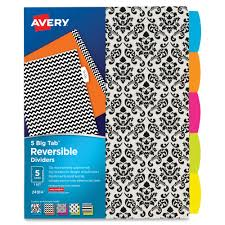 Avery Big Tab Reversible Fashion Dividers Mac Papers Inc