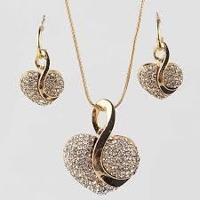 Free shipping <b>Fashion Jewelry</b> Luxury <b>Gold color</b> Romantic Austrian ...