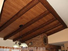 how to install wood beams on a ceiling images