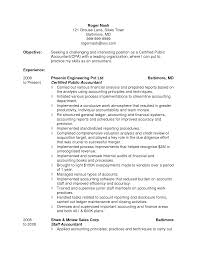 Accounting Resume Objective 12 Cpa Resume Objective Entry Level