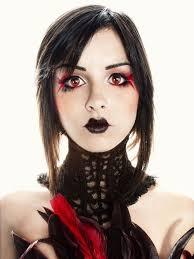 red eye makeup anime