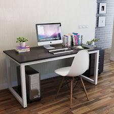computer desk in bedroom. Beautiful Desk Modern Black Wooden U0026 Metal Computer PC Home Office Desk  Study Table  Bedroom Intended In E