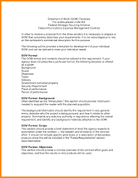 Work Statement Examples Scope Of Work Template For It Projects