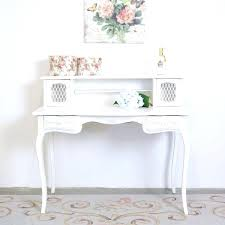 vintage style office furniture. French Style Office Furniture Shabby Cottage Chic White Mesh Writing Desk With Roses Vintage Country