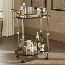 Metropolitan Brown Gold Metal Mobile Bar Cart with Glass Top by iNSPIRE Q  Bold - Free Shipping Today - Overstock.com - 19794008