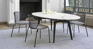odessa round dining table by ligne roset modern dining tables los angeles