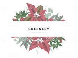 Viel Grün Bouquet Kranz Vorlage Rot Und Grün Weihnachtsstern