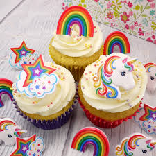 Unicorn Cake Toppers And Sugar Decorations