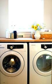 washer dryer countertop washer use an butcher block above your washer and dryer for a pretty washer dryer countertop