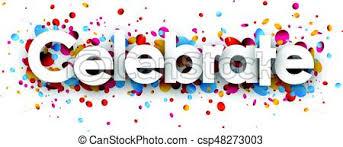 Celebrate Banner Celebrate Paper Banner With Confetti