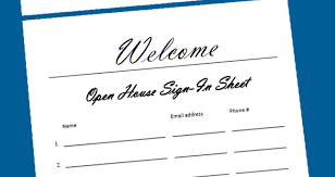 Open House Sign In Successful Open House Tips
