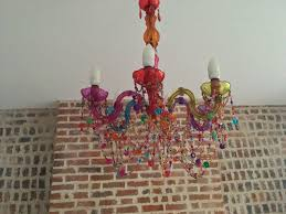 gypsy style multicoloured chandelier ceiling light in great