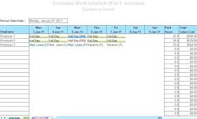 Monthly Employee Shift Schedule Plate Download Excel For Free Weekly