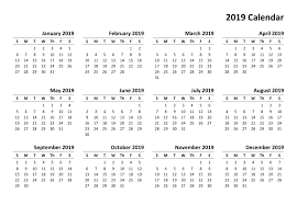 Calendar Year 2019 Printable Year Calendar 2019 Printable Pdf Task Management Template