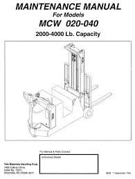 yale pallet stacker mpe060 f b896 mpe080 f b890 workshop original illustrated factory workshop service manual for yale pallet truck original factory manuals for yale