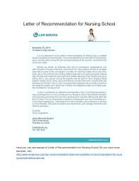 Letter Of Recommendation For Nursing School Letter Of Recommendation For Masters Nursing Program Piqqus Com