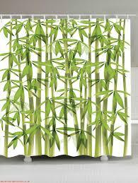bamboo print waterproof shower curtain green w71 inch l71 inch bathroom s eewizq6sloxw
