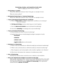 Mechanical And Chemical Weathering Venn Diagram Weathering Erosion And Deposition Study Guide Worksheet