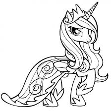 Small Picture little pony friendship is magic free coloring pages