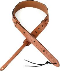levy s mv70trc veg tan leather guitar strap tan