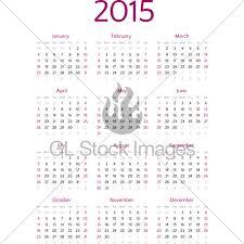 Simple 2015 Calendar Simple 2015 Year Calendar Vector Grid Gl Stock Images