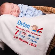 personalised baby blankets uk