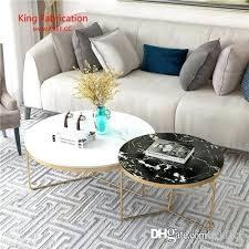 modern marble coffee table living room iron tea uk circular toughened glass small