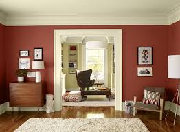 Benjamin Mooreu0027s Red Color Scheme For Living Room.