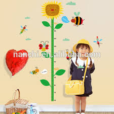 Kindergarten Height Chart Yellow Sunflower Childrens Height Decorative Wall Sticker Kindergarten Height Growth Chart Kids Diy Sticker Rooms Home Decor Buy Yellow Sunflower