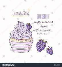 Hand Drawn Cupcake Doodle Buttercream Pastry Stock Vector Royalty