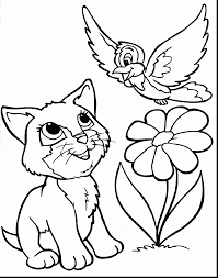 Small Picture excellent cute animal coloring pages with spring flowers coloring