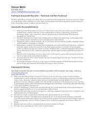 Recruiter Resume Nardellidesign Com