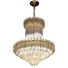 camer mid century modern murano chandelier glass prisms light fixture for at 1stdibs