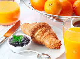 Table Setting For Breakfast Table Setting With A Tasty Continental Breakfast Including Fresh