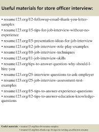 Top 8 Store Officer Resume Samples
