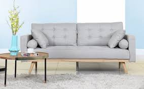 modern couches. Henry Mid Century Modern Linen Sofa In Light Grey Couches
