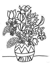Fiori In Vaso Da Colorare Vaso Con Fiore Da Colorare