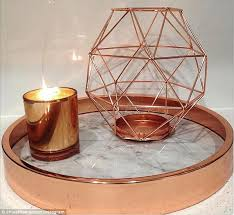 ultimate the 7 copper geometric candle holder is a must have for kmart