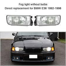 E36 Fog Light Lens 2019 Freeshiping Car Styling Front Fog Light For Bmw E36 1992 1998 H1 Base Without Bulbs Car Detector Headlights Lens Lamp Daytime Running Lights From