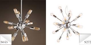 knockout knockoffs restoration hardware sputnik chandelier