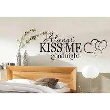 always kiss me goodnight wall art sticker bedroom wall stickers