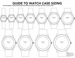 Mens Watch Case Size Chart How To Find A Watch To Fit A Small Wrist Watches For Men