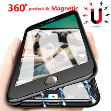 2pcs/lot 360 Magnetic Full Case For iphone 8 Plus iphone 6 s 6S plus Luxury  Cover Coque Case For iphone X 10 iphone 7 plus Cases|Fitted Cases