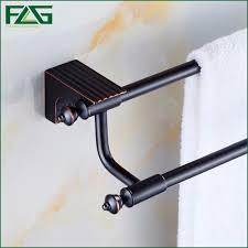 oil rubbed bronze bathroom accessories. FLG High Quality Bathroom Accessories Oil Rubbed Bronze Bath Double Towel Bars Hanger Wall Mount Black Holder 81902-in From Home R