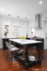 black and white theme in a remodeled kitchen