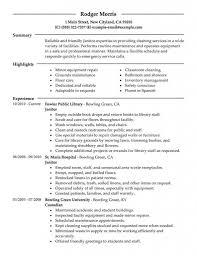 Sample Resume For Janitor Janitor Cover Letter For Resume Best