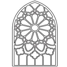 Stained Glass Coloring Pages 878068 Jpg