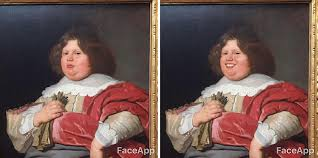 guy finds classical art characters while at the museum too serious uses faceapp to make them smile