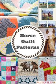 Horse Quilt Pattern Magnificent Saddle Up 48 Horse Quilt Patterns FaveQuilts