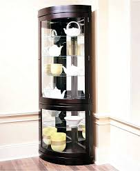 storage cabinets ideas corner curio cabinet curved glass a modern intended for curved glass curio cabinet